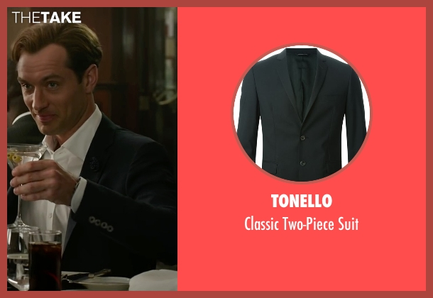 Tonello black suit from Spy seen with Jude Law (Bradley Fine)