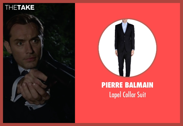 Pierre Balmain black suit from Spy seen with Jude Law (Bradley Fine)