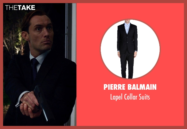 Pierre Balmain black suits from Spy seen with Jude Law (Unknown Character)