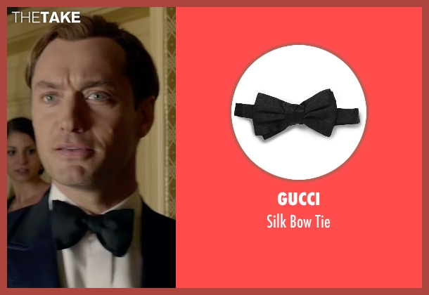 Gucci black tie from Spy seen with Jude Law (Bradley Fine)