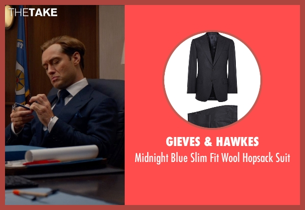 Gieves & Hawkes blue suit from Spy seen with Jude Law (Unknown Character)