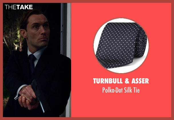 Turnbull & Asser blue tie from Spy seen with Jude Law (Unknown Character)