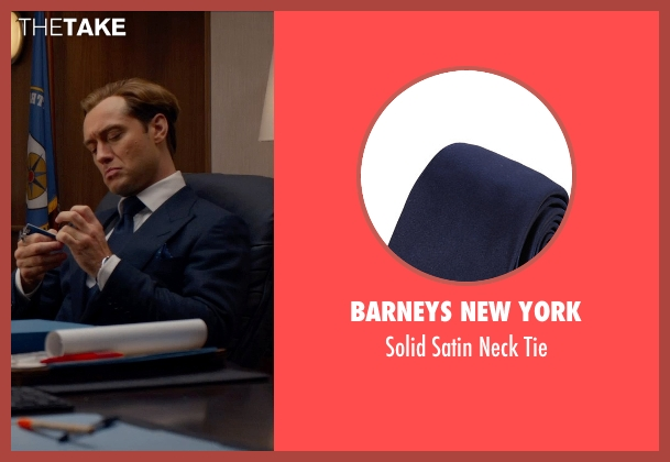Barneys New York blue tie from Spy seen with Jude Law (Unknown Character)