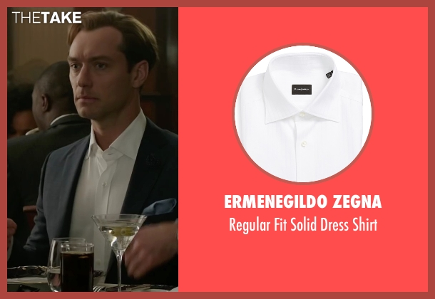 Ermenegildo Zegna white shirt from Spy seen with Jude Law (Bradley Fine)