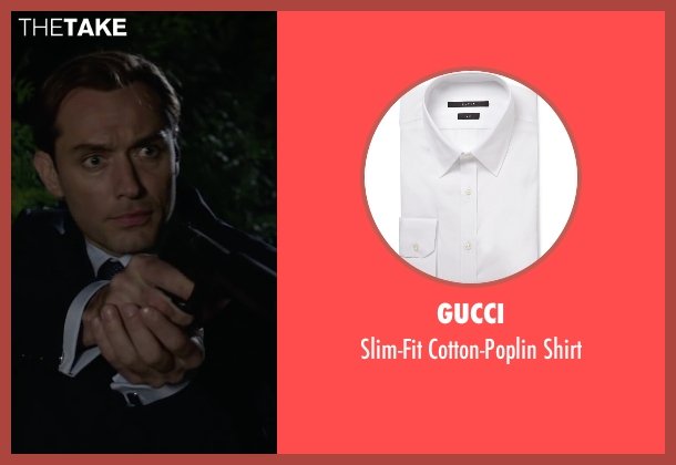 Gucci white shirt from Spy seen with Jude Law (Bradley Fine)