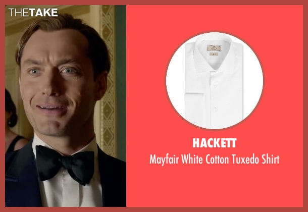 Hackett white shirt from Spy seen with Jude Law (Bradley Fine)