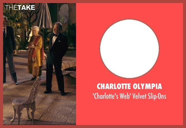 Charlotte Olympia black slip-ons from The Second Best Exotic Marigold Hotel seen with Judi Dench (Evelyn Greenslade)