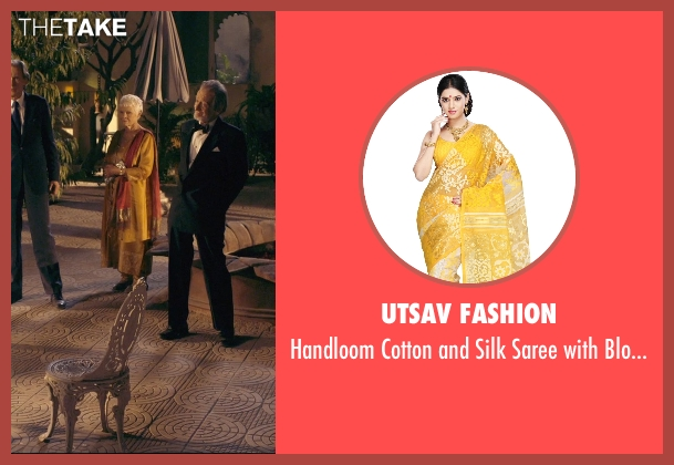 Utsav Fashion blouse from The Second Best Exotic Marigold Hotel seen with Judi Dench (Evelyn Greenslade)