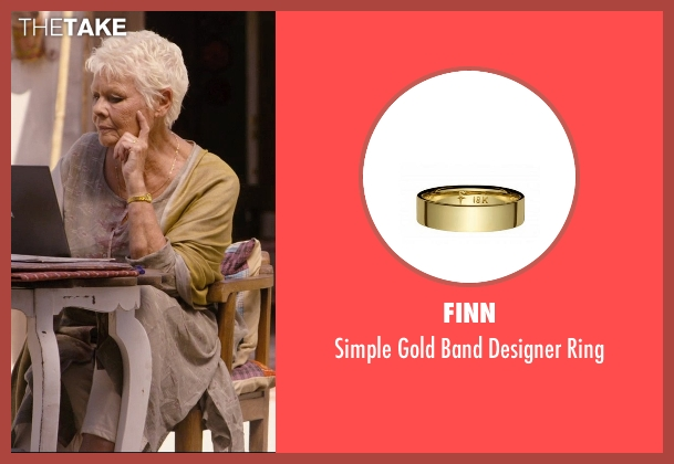 Finn gold ring from The Second Best Exotic Marigold Hotel seen with Judi Dench (Evelyn Greenslade)