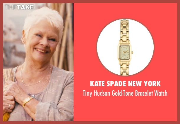 Kate Spade New York gold watch from The Second Best Exotic Marigold Hotel seen with Judi Dench (Evelyn Greenslade)