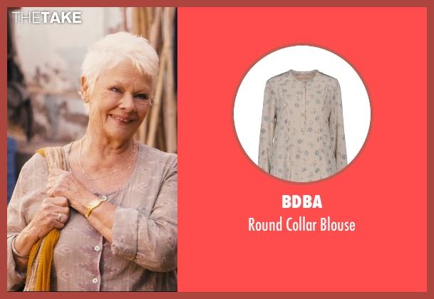 BDBA gray blouse from The Second Best Exotic Marigold Hotel seen with Judi Dench (Evelyn Greenslade)