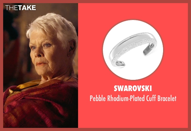 Swarovski silver bracelet from The Second Best Exotic Marigold Hotel seen with Judi Dench (Evelyn Greenslade)