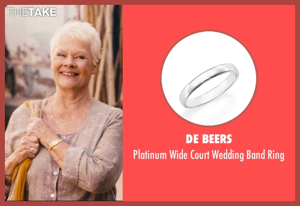 De Beers silver ring from The Second Best Exotic Marigold Hotel seen with Judi Dench (Evelyn Greenslade)
