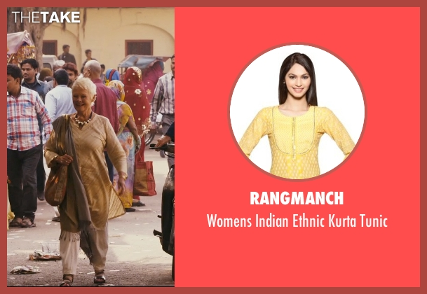 Rangmanch tunic from The Second Best Exotic Marigold Hotel seen with Judi Dench (Evelyn Greenslade)