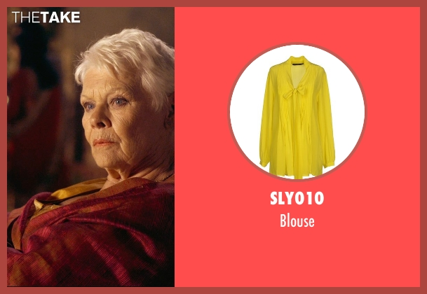 Sly010 yellow blouse from The Second Best Exotic Marigold Hotel seen with Judi Dench (Evelyn Greenslade)