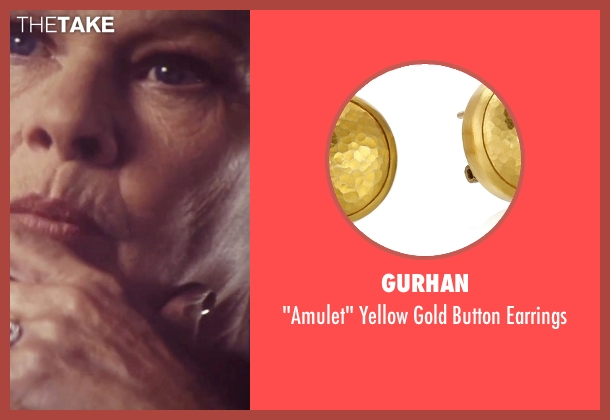 Gurhan gold earrings from Tomorrow Never Dies seen with Judi Dench ('M')