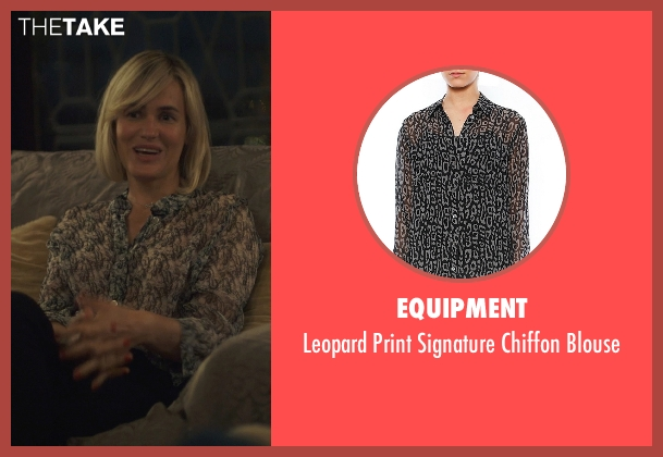 Equipment black blouse from The Overnight seen with Judith Godrèche (Charlotte)