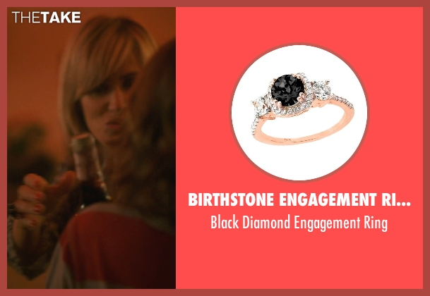 Birthstone Engagement Rings black ring from The Overnight seen with Judith Godrèche (Charlotte)