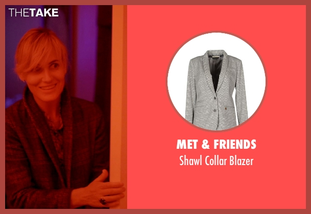 Met & Friends gray blazer from The Overnight seen with Judith Godrèche (Charlotte)