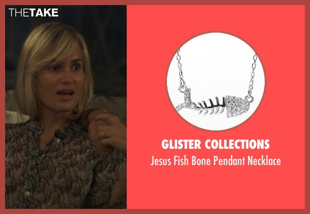 Glister Collections silver necklace from The Overnight seen with Judith Godrèche (Charlotte)