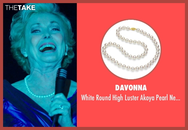 DaVonna white neckalce from The Purge: Anarchy seen with Judith McConnell (Old Elegant Woman)