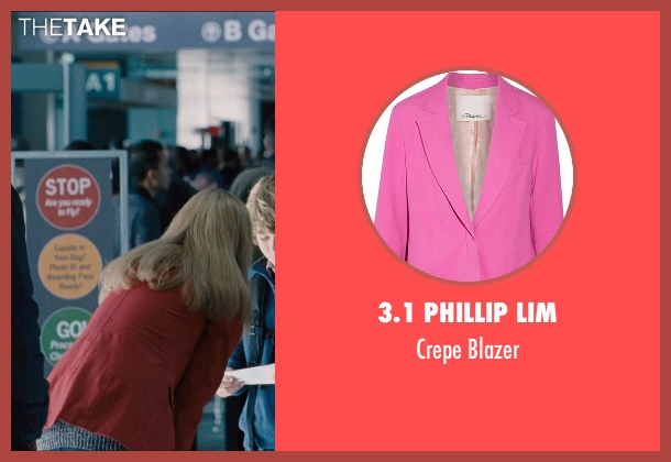 Manuel Ritz pink blazer from Jurassic World seen with Judy Greer (Park Visitor)