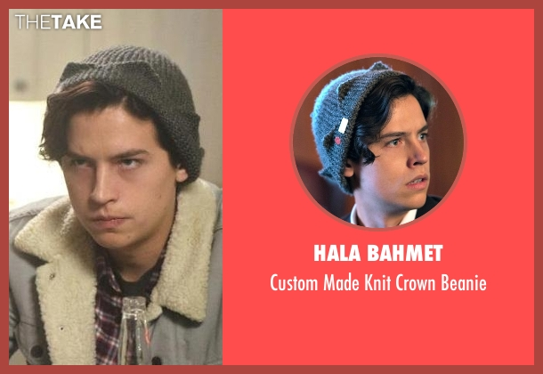 Hala Bahmet gray beanie from Riverdale seen with Jughead Jones (Cole Sprouse)