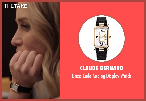 Claude Bernard black watch from Notorious seen with Julia George (Piper Perabo)