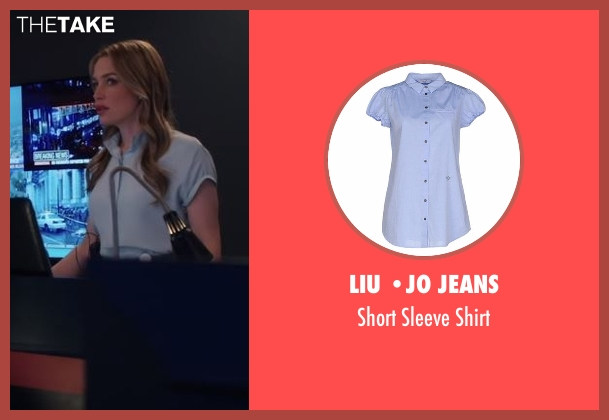 Liu •Jo Jeans blue shirt from Notorious seen with Julia George (Piper Perabo)