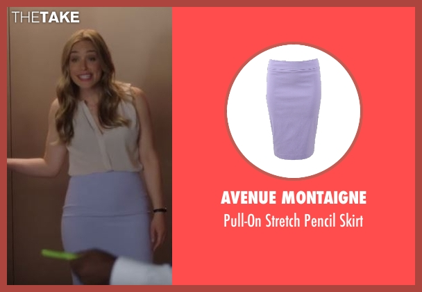 Avenue Montaigne purple skirt from Notorious seen with Julia George (Piper Perabo)