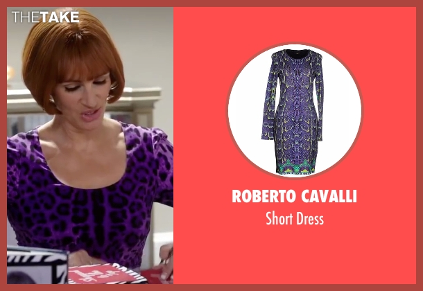 Roberto Cavalli purple dress from Mother's Day seen with Julia Roberts (Miranda)
