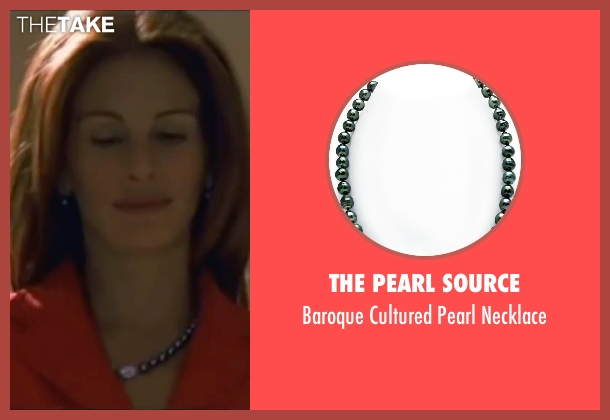 The Pearl Source black necklace from Ocean's Eleven seen with Julia Roberts (Tess Ocean)
