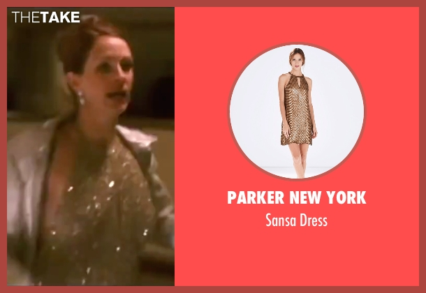 Parker New York gold dress from Ocean's Eleven seen with Julia Roberts (Tess Ocean)