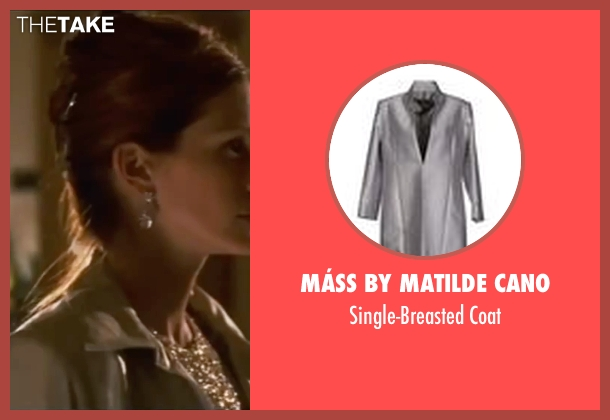 Máss By Matilde Cano gray coat from Ocean's Eleven seen with Julia Roberts (Tess Ocean)