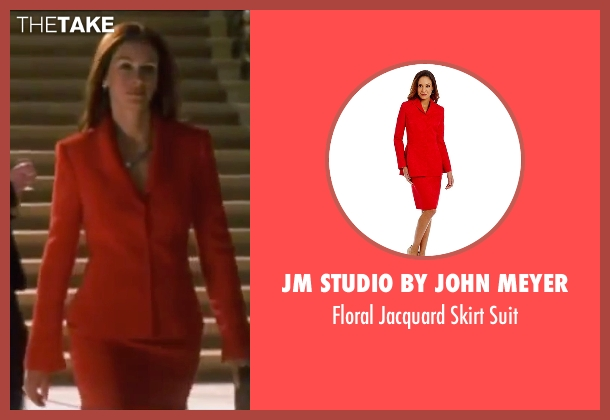 Jm Studio By John Meyer red suit from Ocean's Eleven seen with Julia Roberts (Tess Ocean)