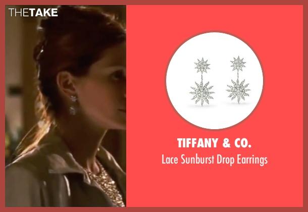 Tiffany & Co. silver earrings from Ocean's Eleven seen with Julia Roberts (Tess Ocean)