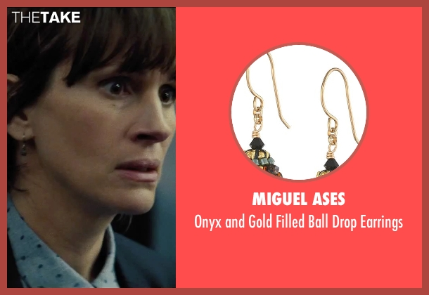 Miguel Ases black earrings from Secret in Their Eyes seen with Julia Roberts (Jess)