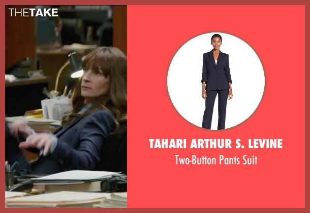 Tahari Arthur S. Levine blue suit from Secret in Their Eyes seen with Julia Roberts (Jess)