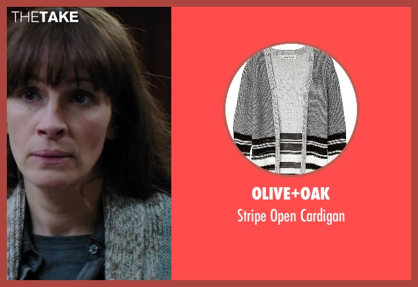 Olive+Oak gray cardigan from Secret in Their Eyes seen with Julia Roberts (Jess)