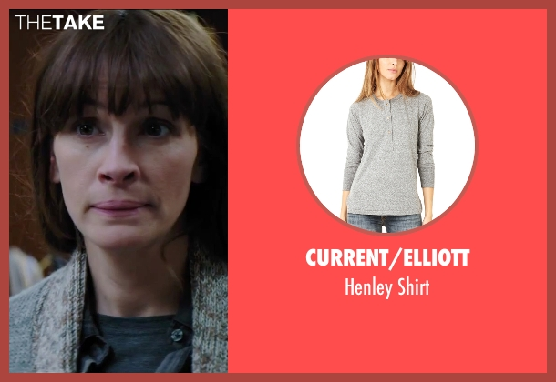 Current/Elliott gray shirt from Secret in Their Eyes seen with Julia Roberts (Jess)