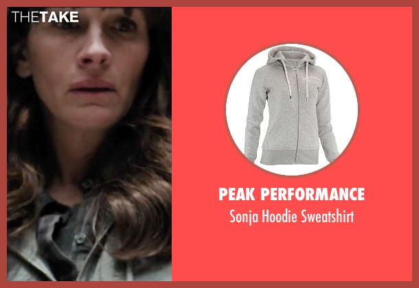 Peak Performance gray sweatshirt from Secret in Their Eyes seen with Julia Roberts (Jess)