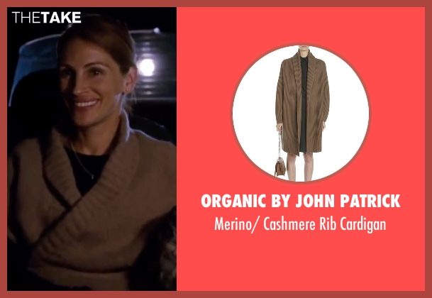 Organic By John Patrick brown cardigan from Valentine's Day seen with Julia Roberts (Captain Kate Hazeltine)