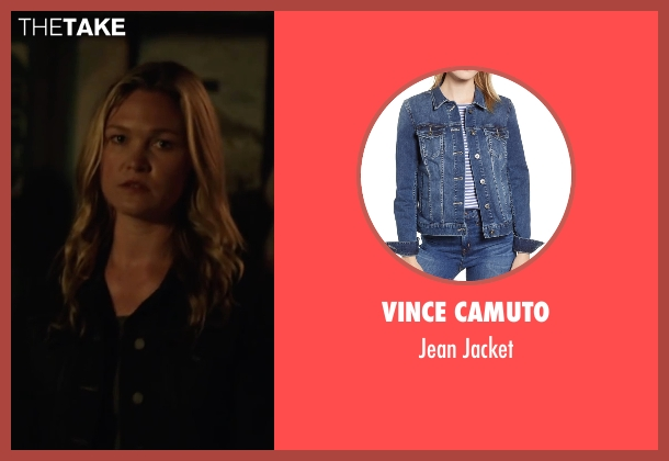 Eileen Fisher blue jacket from Jason Bourne seen with Julia Stiles (Nicky Parsons)