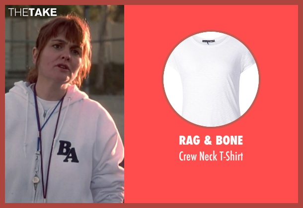 Rag & Bone white t-shirt from Clueless seen with Julie Brown (Ms. Stoeger)