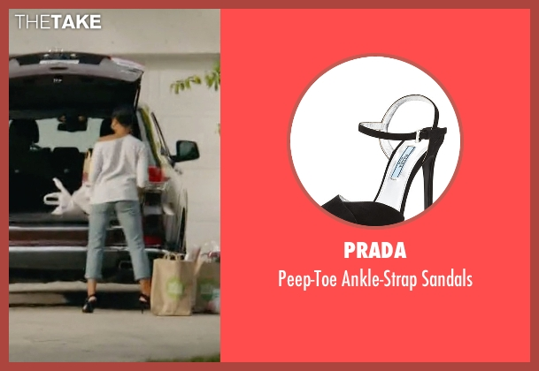 Prada black sandals from Ballers seen with Julie Greane (Jazmyn Simon)