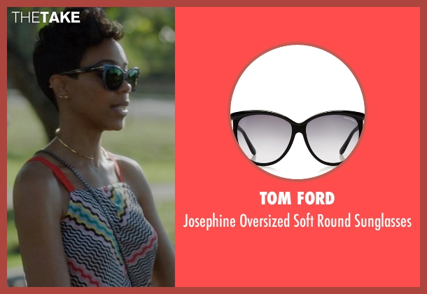 Tom Ford black sunglasses from Ballers seen with Julie Greane (Jazmyn Simon)