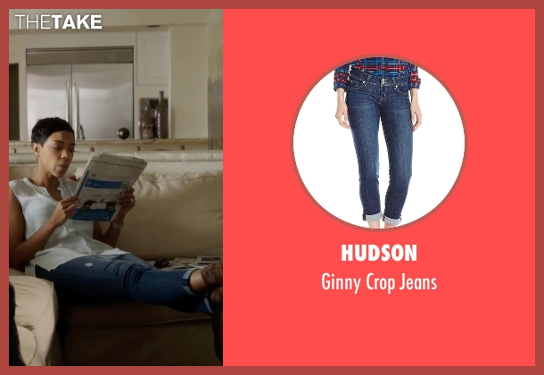 Hudson blue jeans from Ballers seen with Julie Greane (Jazmyn Simon)