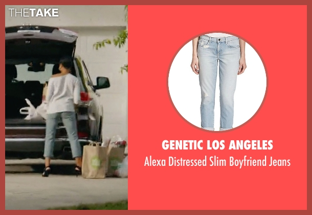 Genetic Los Angeles blue jeans from Ballers seen with Julie Greane (Jazmyn Simon)