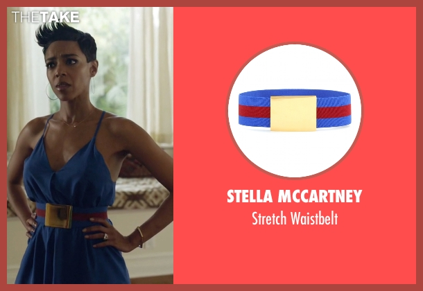 Stella McCartney blue waistbelt from Ballers seen with Julie Greane (Jazmyn Simon)