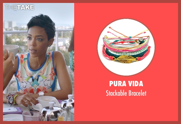 Pura Vida bracelet from Ballers seen with Julie Greane (Jazmyn Simon)